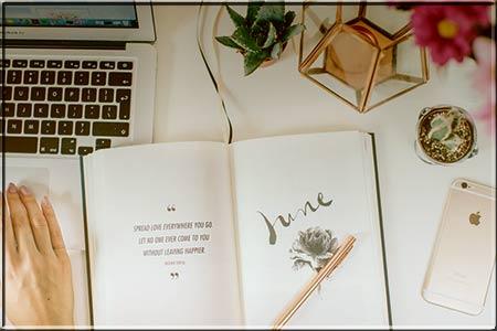 Notebook pen book