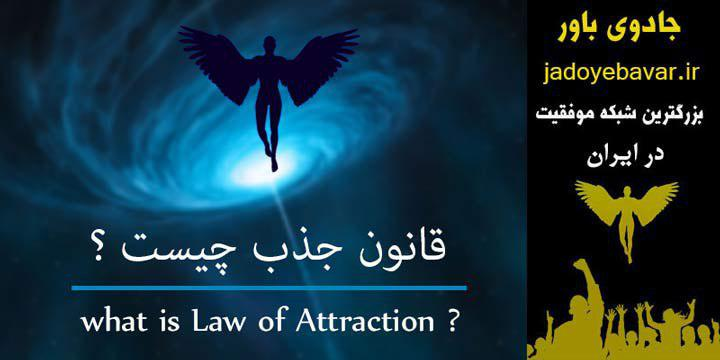 In picture of written What is the law of attraction?
