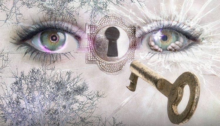 A lock between the two eyes that represents the third eye