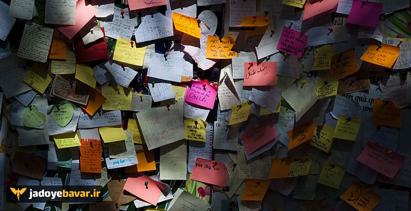 notes sticky notes sunlight wall
