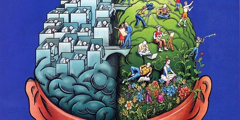 ارتباط ضمیر خودآگاه و ناخودآگاه به نیم کره های مغز