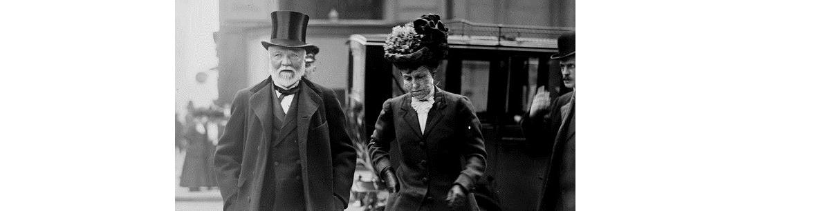 اندرو کارنگی و همسرش